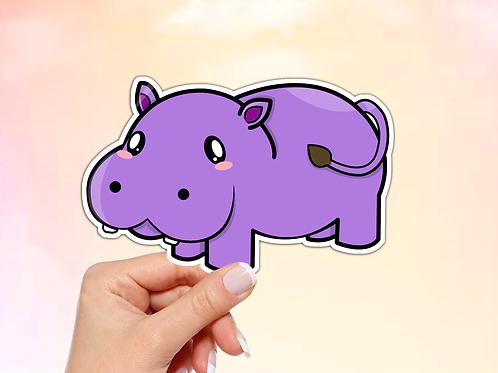 Hippo Vinyl Sticker