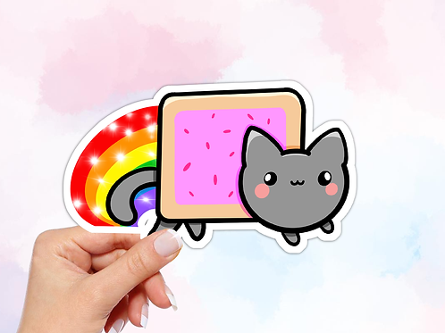 Nyan Cat Meme Vinyl Sticker