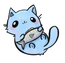 Cat with Fish 6in.png