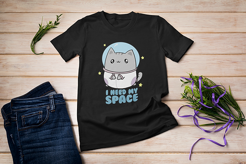 Cute Cat t-shirt, I need my Space, Short-Sleeve Unisex T-Shirt
