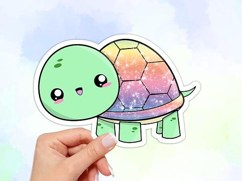 Sea Turtle Vinyl Sticker, Rainbow Sticker
