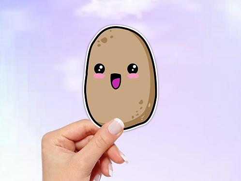 Potato Vinyl Sticker