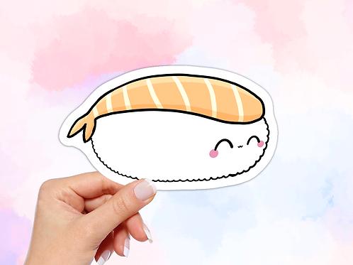 Sushi Vinyl Sticker, Kawaii Food Sticker, Fish Sushi