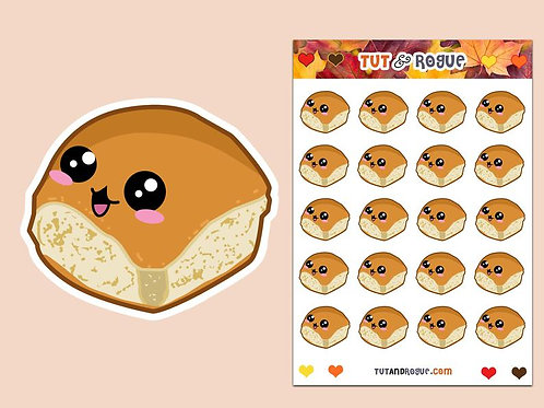 Bread Dinner Roll Sticker Sheet