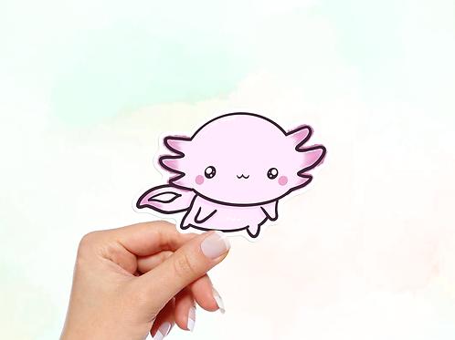 Axolotl Sticker, Kawaii Animal Sticker