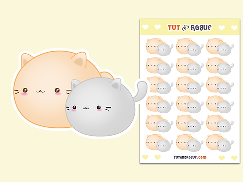 Cat Kawaii Sticker Sheet