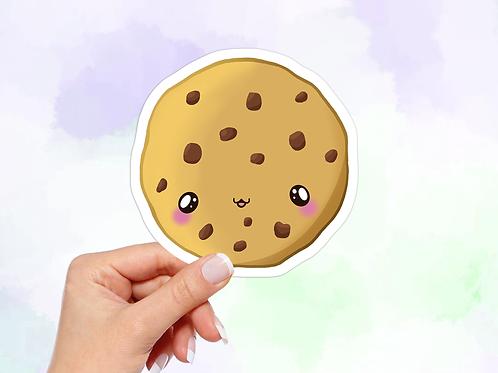 Cookie Sticker, Chocolate chip cookie, Vinyl