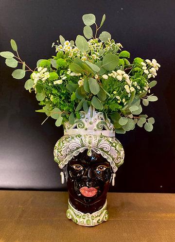 Vase Moro Vert Grand Modèle (H45cm)