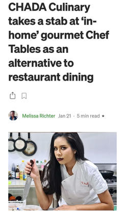 CHADA Culinary takes a stab at 'in-home' gourmet Chef Tables as an alternative to restaurant dining