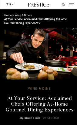 At Your Service: Acclaimed Chefs Offering At-Home Gourmet Dining Experiences