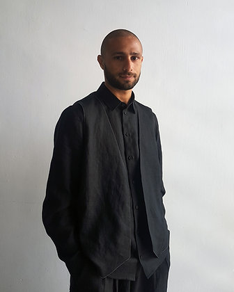 Black Vest Shirt
