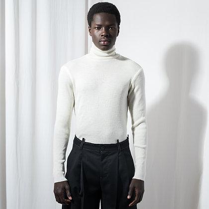 White Slim Fit Turtleneck