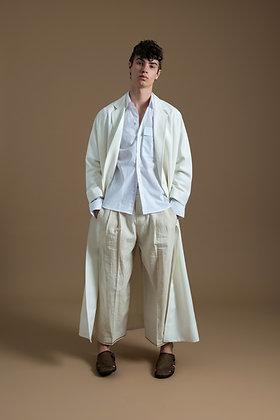 White Long  Kimono Coat