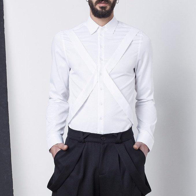 Shop | Tel Aviv | ELIRAN NARGASSI | White harnesse shirt