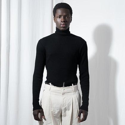 Black Slim Fit Turtleneck