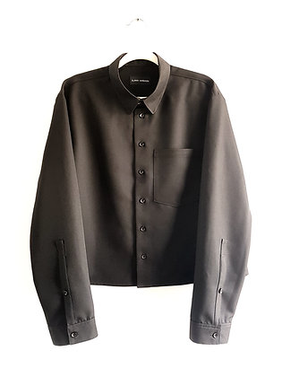 Mens Black Long Sleeve Shirt
