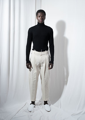 Cream white tailored pants