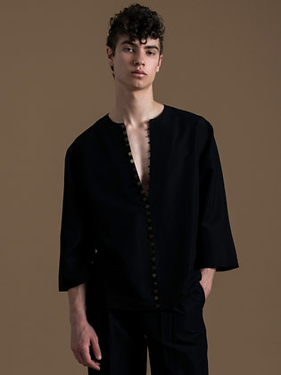 Deep V-neck Moroccan Shirt