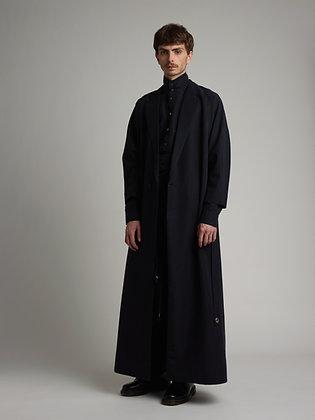 Silk long kimono coat