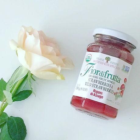 USDA Certified organic jam, strawberries, pink, rose, no citric acid, gerd, acid reflux. pretty organic girl.