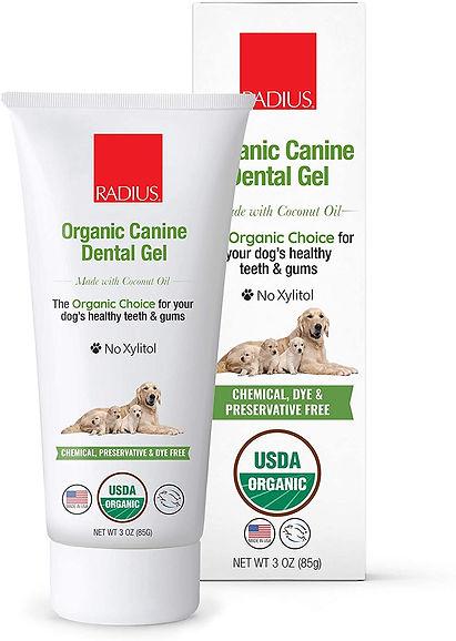 organic pet oral care, organic toothbrush, dental, toothpaste, dogs, cats, pets, radius USDA certified organic, organic toohpaste for pet