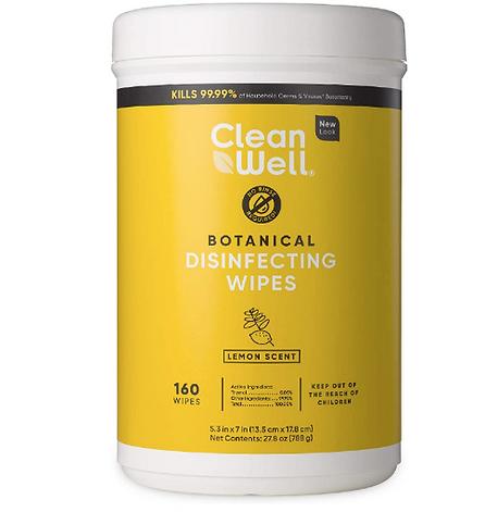 botanical, organic, natural, disinfectanting wipes