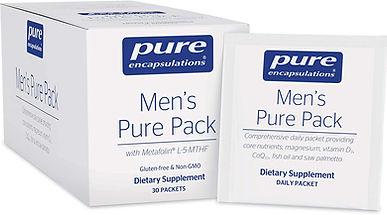 organic supplements, multi vitamins for men, pure encapsulations men's pure Pack