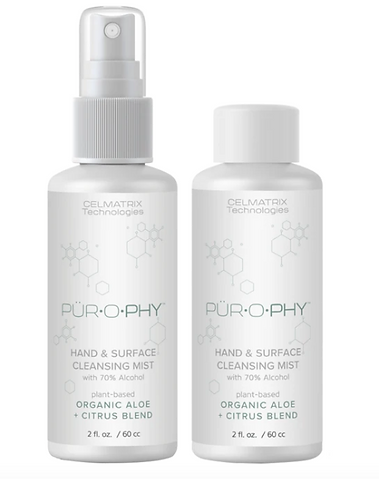 organic hand sanitizer and surface cleansing mist