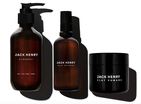 Certified organic hair care for men, shampoo, clay pomade, Jack Henry