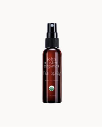 usda organic hair spray, non-toxic, travel-size