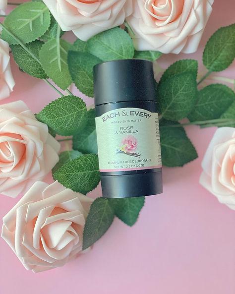 organic deodorant each & every