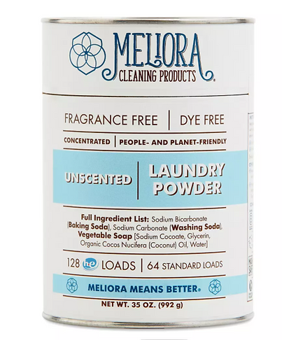 certified organic laundry powder, meliora, made safe certified