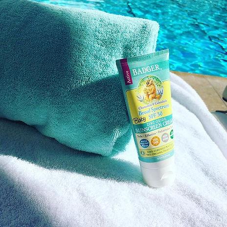 certified organic baby sunscreen cream badger