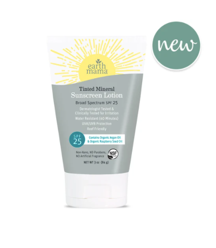 organic tinted sunscreen lotion
