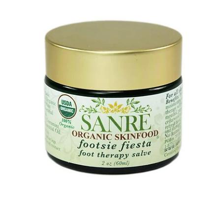 USDA certified organic foor balm, Sanre organic skinfood footsie fiesta foot theraphy salve