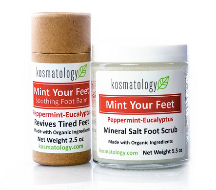 organic foot scrub and balm made safe certified