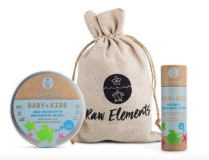 baby kids raw element organic sunblock, organic sunscreen