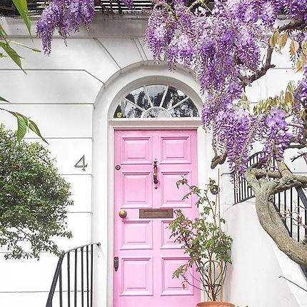 pink pretty door, number 4, plants, no junk mail, pretty organic girl, no waste, waste free, climate change, reduce eliminate junk mail