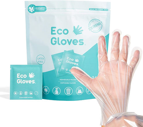 compostable food grade gloves, eco-friendly, safe, non-toxic, restaurants, hotels, spa, eco- gloves