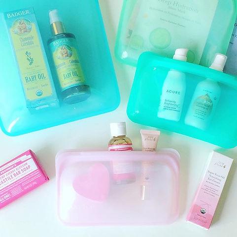 organic hair accessories bag, beuaty case