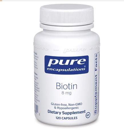 organic biotin for hair, nails, skin