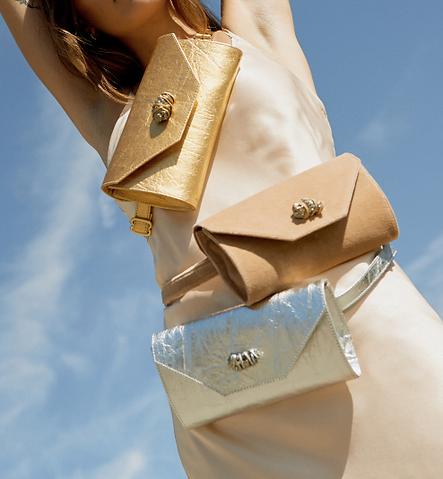vegan eco-friendly organic bags, pinatex leather