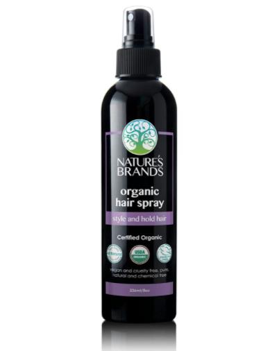 USDA Certified Organic hair spray, non-toxic, natural