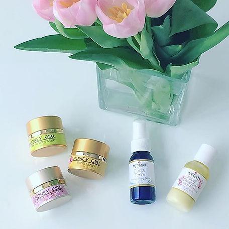 travel size USDA certified organic beauty skincare