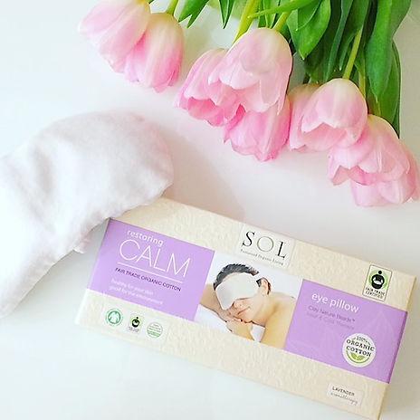 home spa, organic cotton eye pillow, SOL