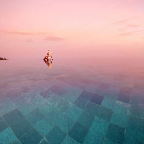 women in a pink pool, women owned business