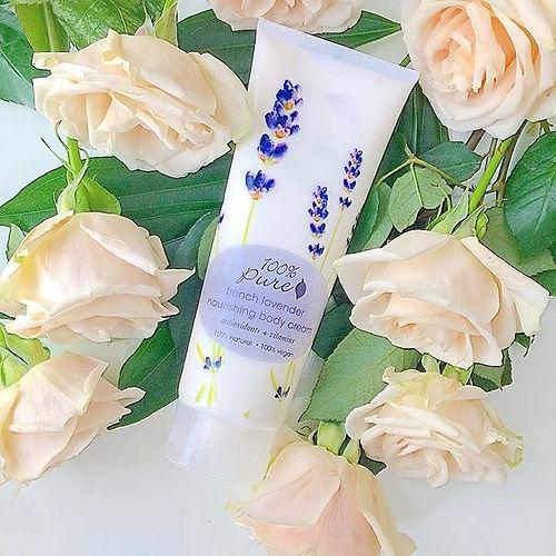 organic lavender body cream 100% pure