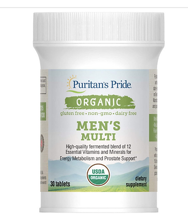 usda certified organic men's multi vitamins, organic supplements for me, Puritan's pride