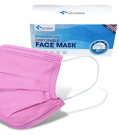 pink facemaks made in the uSA