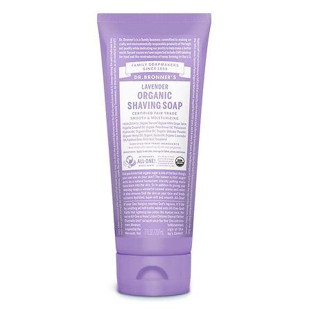purple Dr Bronner's organic shaving cream